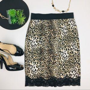 Victoria Secret Slip Pencil Skirt with lace trim 6